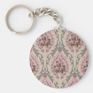"""Rose de conception de papier peint de """"Lillie"""" Porte-clé Rond"""