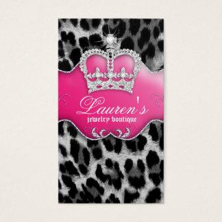 Rose de couronne de carte de visite de léopard de