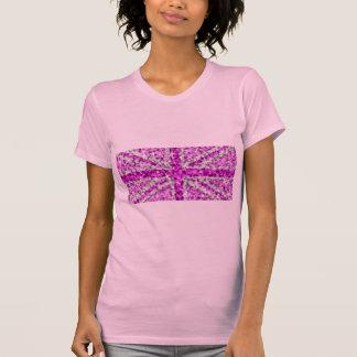 Rose de dames roses BRITANNIQUES de T-shirt de