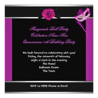 Rose de fête d'anniversaire de Quinceanera de Carton D'invitation 13,33 Cm