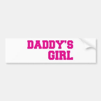 rose de fille de daddys autocollant de voiture