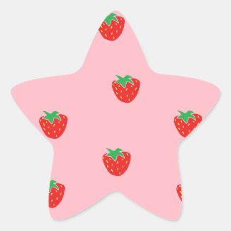 Rose de fraises sticker étoile