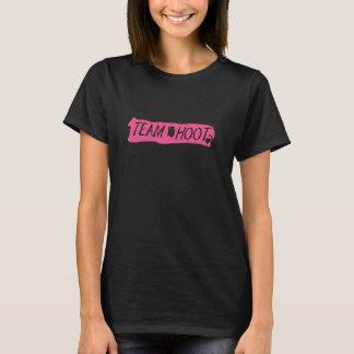 Rose de grand coup de huée d'équipe t-shirt