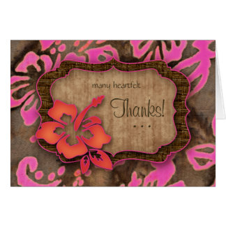 Rose de ketmie de cartes de Merci de mariage de