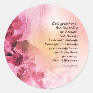 Rose de la barrière 3 de coing de prière de sticker rond