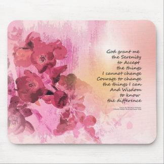 Rose de la barrière 3 de coing de prière de tapis de souris