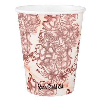 rose de la tasse de papier 9oz gobelets en papier