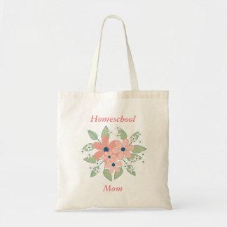 Rose de maman de Homeschool et floral vert Sacs Fourre-tout