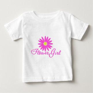 Rose de marguerite de demoiselle de honneur t-shirt pour bébé