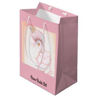 rose de milieu de sac de cadeau