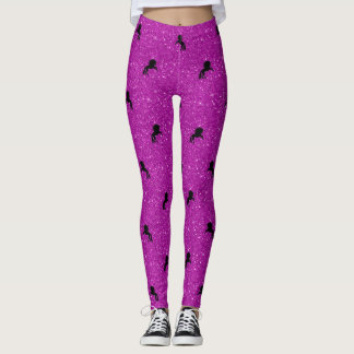 rose de motif de licorne leggings