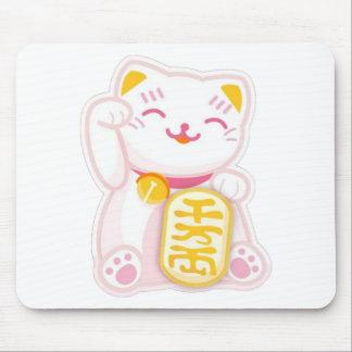 rose de neko de maneki tapis de souris
