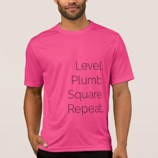 Rose de niveau du Dri-ajustement solides solubles T-shirt