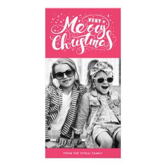 Rose de Photocard | de Noël très Joyeux Carte