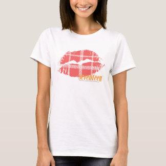 Rose de plaid t-shirt
