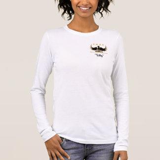 Rose de PMRGlogo avec le nom T-shirt À Manches Longues