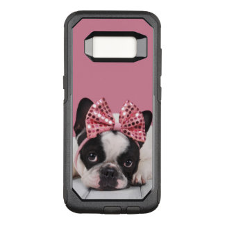 Rose de port de bouledogue français coque samsung galaxy s8 par OtterBox commuter