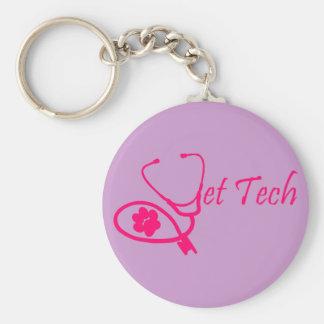rose de porte - clé de technologie de vétérinaire porte-clé rond