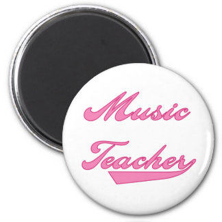 Rose de professeur de musique magnet rond 8 cm