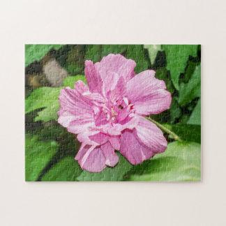 Rose de puzzle de fleur de Sharon