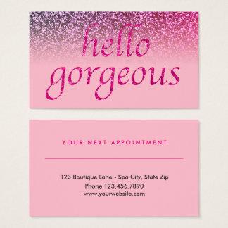 Rose   de rendez-vous de salon de beauté bonjour cartes de visite