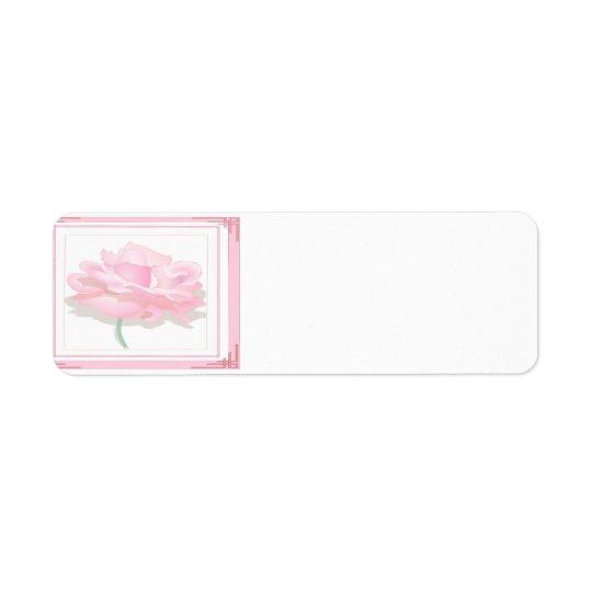 Rose de rose étiquettes d'adresse retour