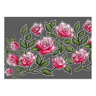 Rose de rose floral carte de visite grand format