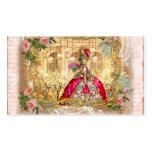 rose de roses de encadrement d'or de marie de Vers Carte De Visite