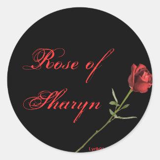 Rose de sharyn sticker rond
