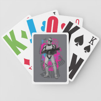 Rose de soldat de la cavalerie de clone jeu de poker