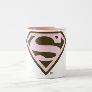 Rose de Supergirl et logo de Brown Tasse 2 Couleurs