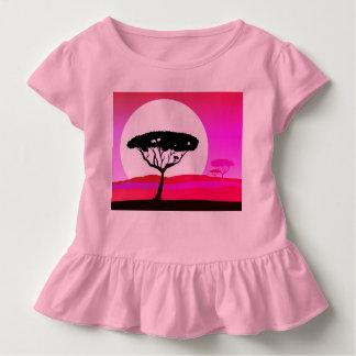 Rose de T-shirt de concepteurs avec l'arbre de