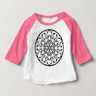 Rose de T-shirt de concepteurs avec le mandala