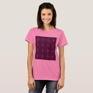 Rose de T-shirt de concepteurs avec l'illustration