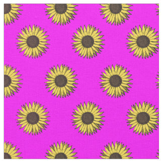 rose de tissu de motif de tournesol