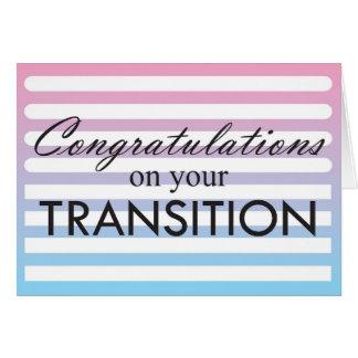 Rose de transition au bleu carte de vœux
