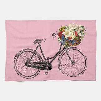 Rose de vélo de fleur de bicyclette de serviette
