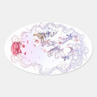 Rose de Versailles Sticker Ovale