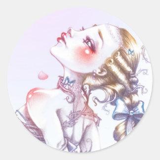 Rose de Versailles Sticker Rond