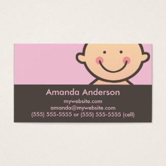 Rose de visage de bébé et cartes de visite de