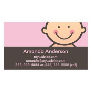 Rose de visage de bébé et cartes de visite de carte de visite standard