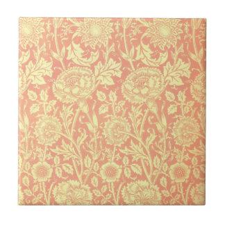 Rose de William Morris et conception de rose Carreau
