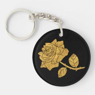 Rose d'or porte-clés