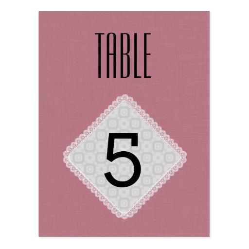 Rose doux V41 de nombre de Tableau de mariage de d Cartes Postales