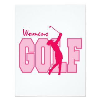 Rose du golf des femmes carton d'invitation 10,79 cm x 13,97 cm