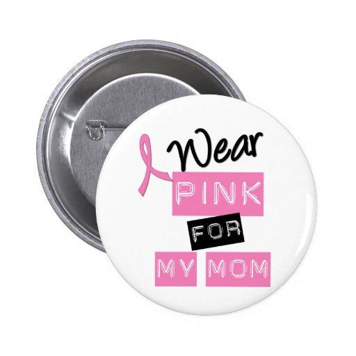 Rose d'usage du cancer du sein I pour ma maman Pin's