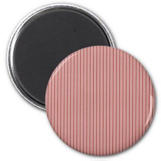 Rose élégant de rayures magnet rond 8 cm