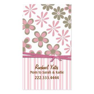 Rose élégant et carte faite sur commande de maman carte de visite standard