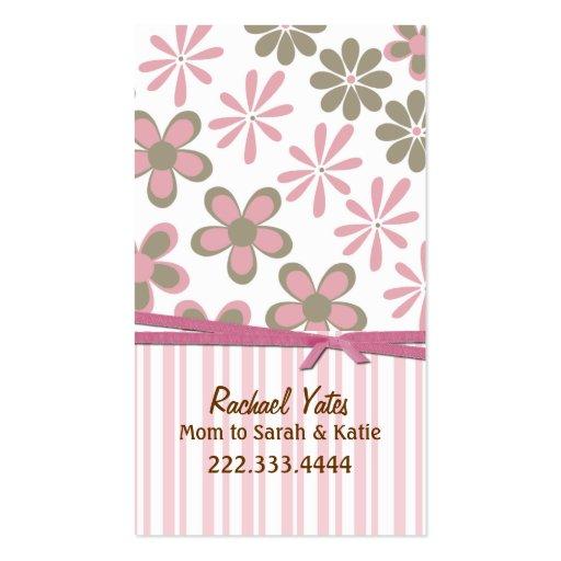 Rose élégant et carte faite sur commande de maman  modèles de cartes de visite