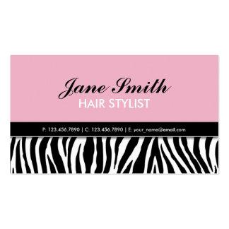 Rose élégant moderne de spa de coiffeur carte de visite standard